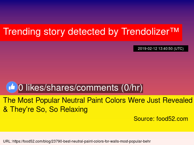 The Most Popular Neutral Paint Colors Were Just Revealed Amp They