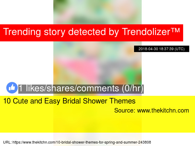 10 cute and easy bridal shower themes